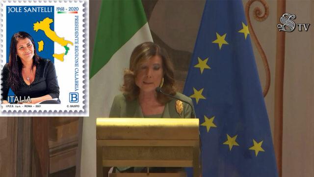 Un anno fa la morte di Jole Santelli, commemorazione al Senato e francobollo in suo onore