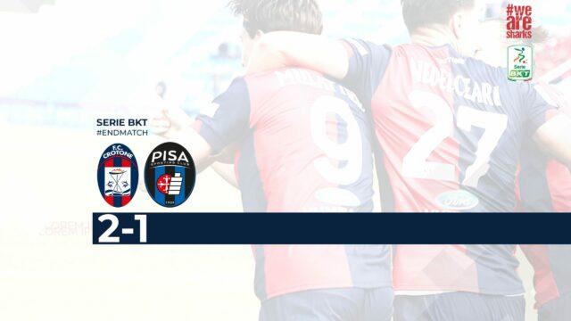 Serie B, il Crotone batte 2-1 il Pisa e centra la prima vittoria in campionato