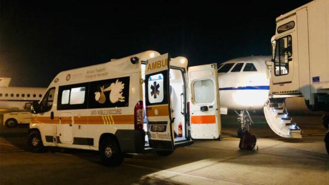 Trasporto sanitario d'urgenza: volo salva-vita per un neonato da Lamezia Terme a Roma